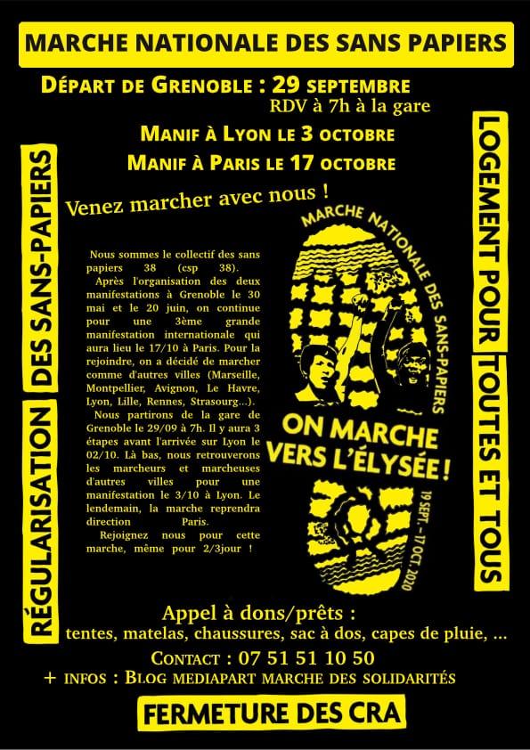Marche-des-Sans-Papiers 2020 [Affiche Grenoble]