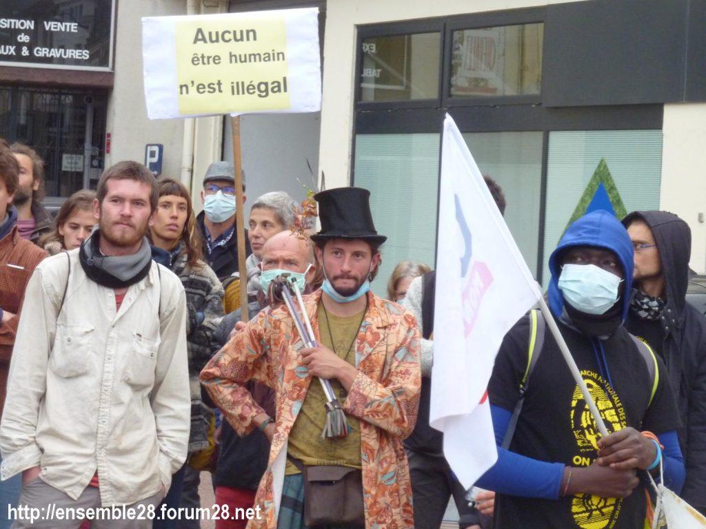 2020-10-12 Marche Sans-Papiers Nogent-le-Rotrou Photo 6