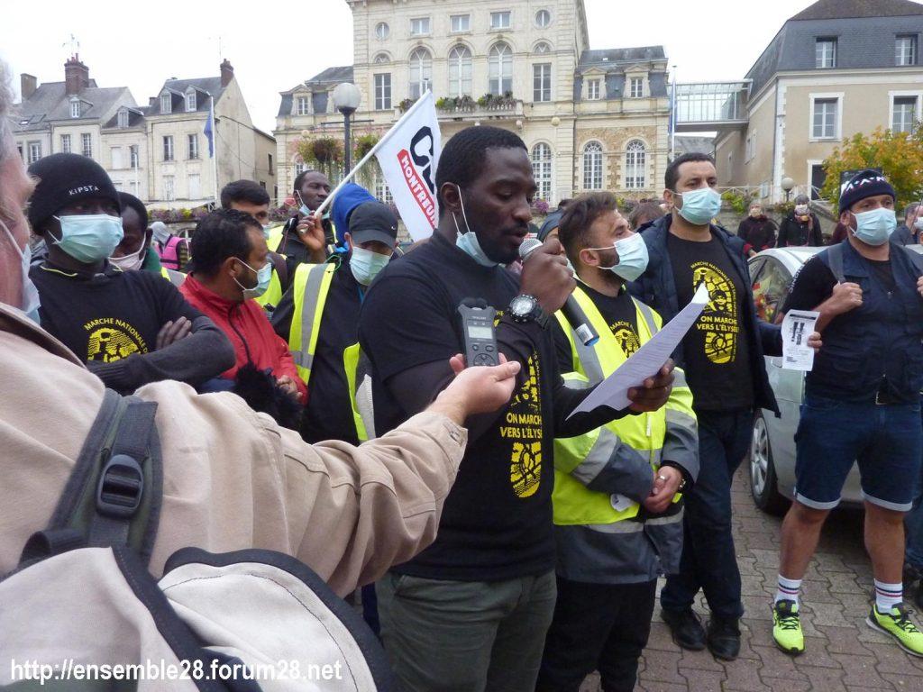 2020-10-12 Marche Sans-Papiers Nogent-le-Rotrou Photo 8