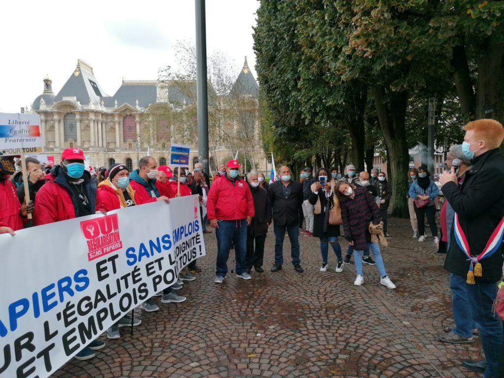 Départ de la Marche de Lille 03-10-2020