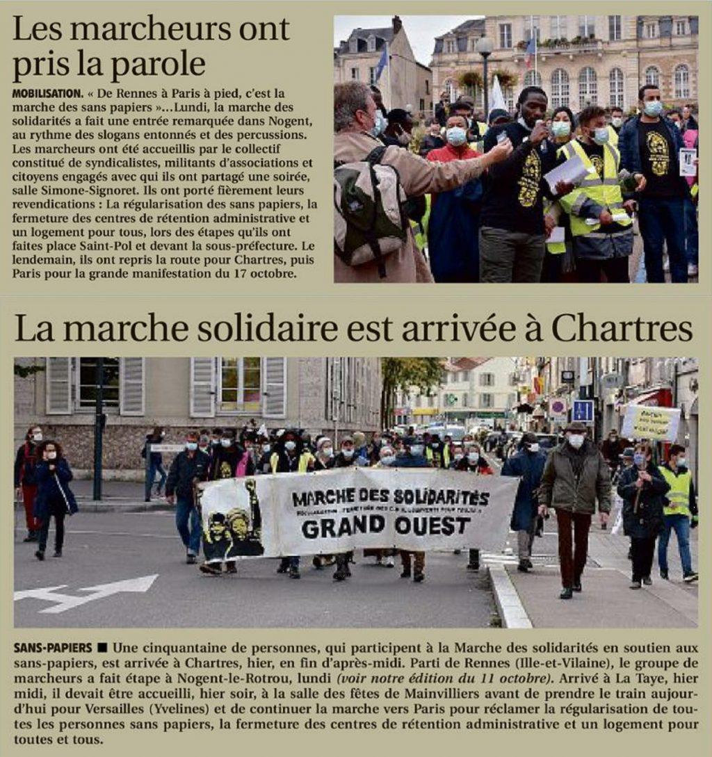 ER 2020-10-14 p19 et 4 Nogent-le-Rotrou Chartres Marche-des-Sans-Papiers