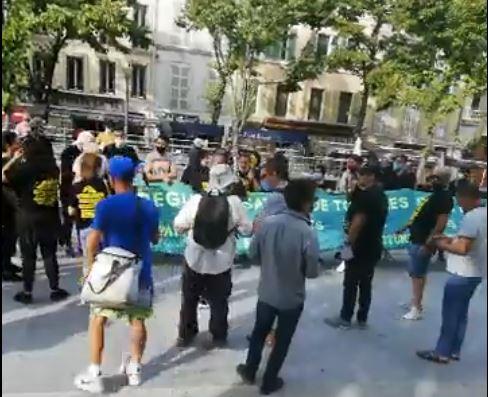 Strasbourg Départ de la Marche 03-10-2020 2