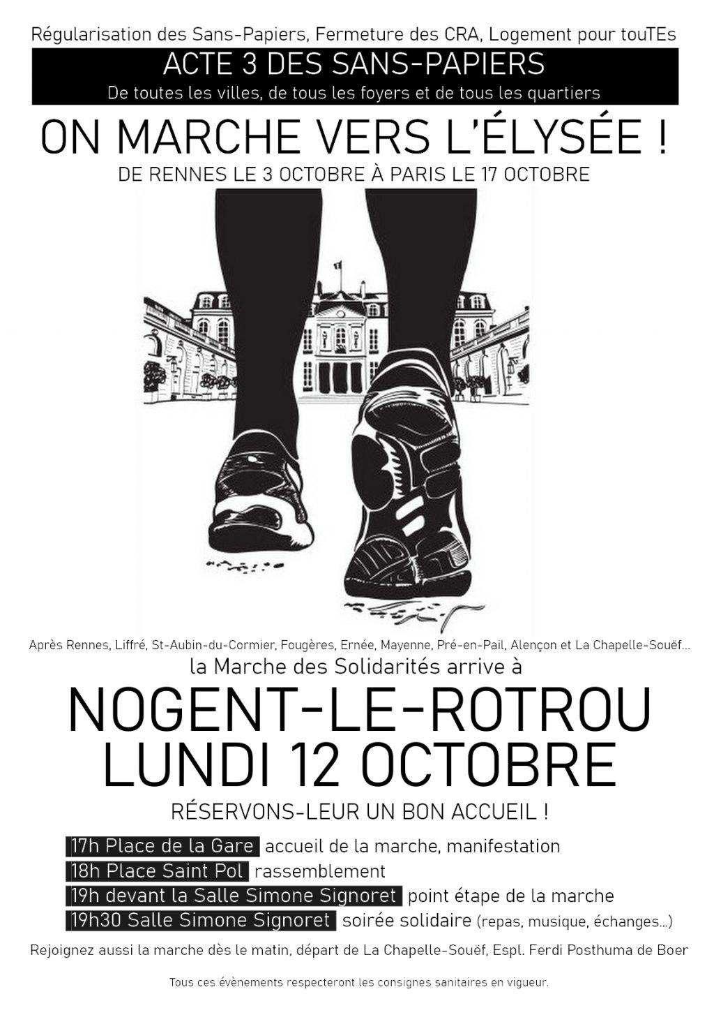 Tract 12 octobre Marche des Solidarités Nogent-le-Rotrou [recto]