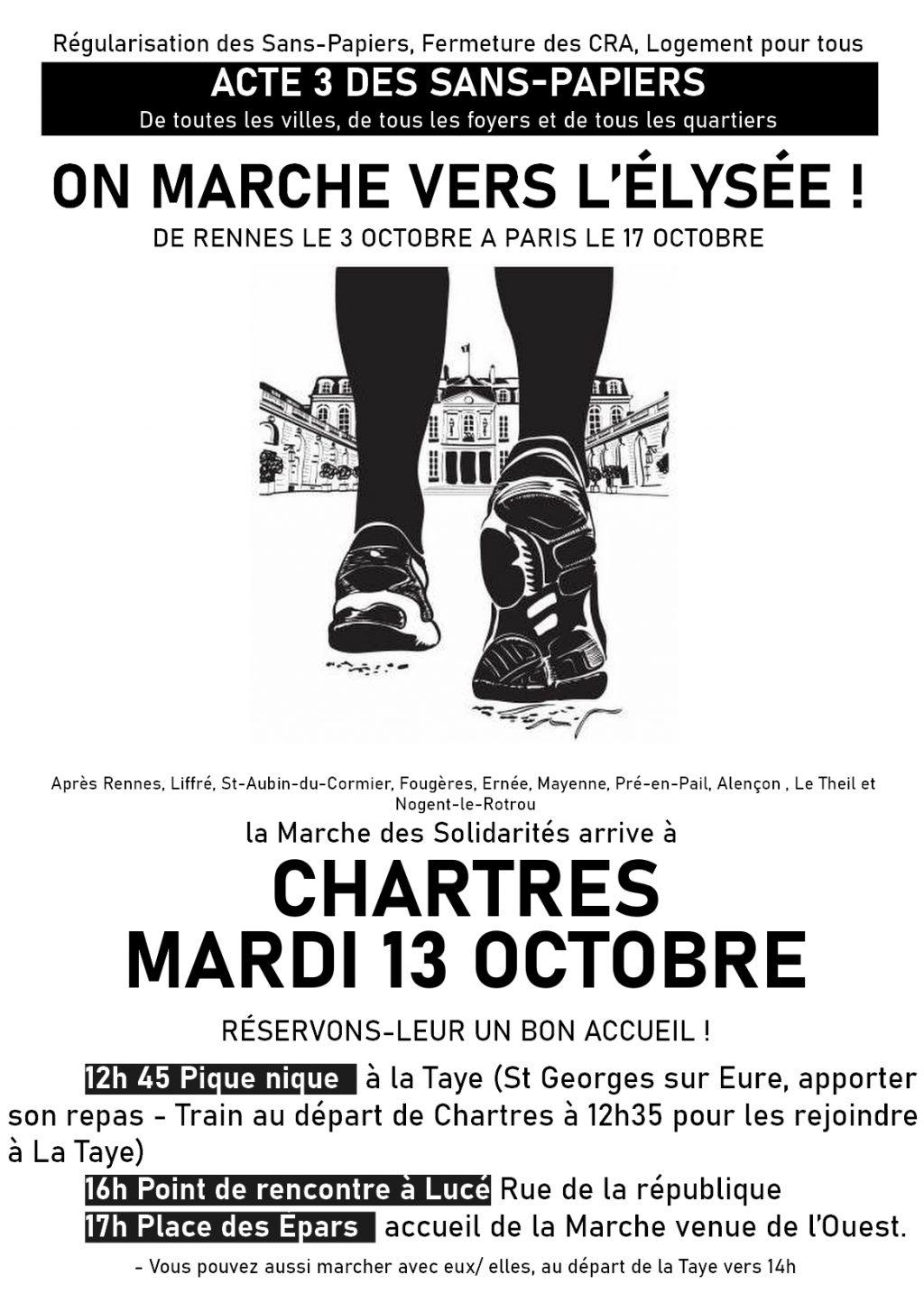 Tract 13 octobre Marche des Solidarités Chartres [recto]