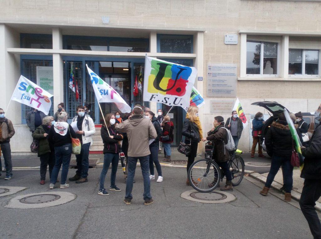 Chartres 10-11-2020 Rassemblement Grève sanitaire [Une]