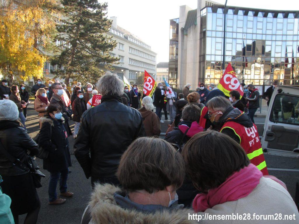 Chartres 28-11-2020 Rassemblement Loi Sécurité globale 08