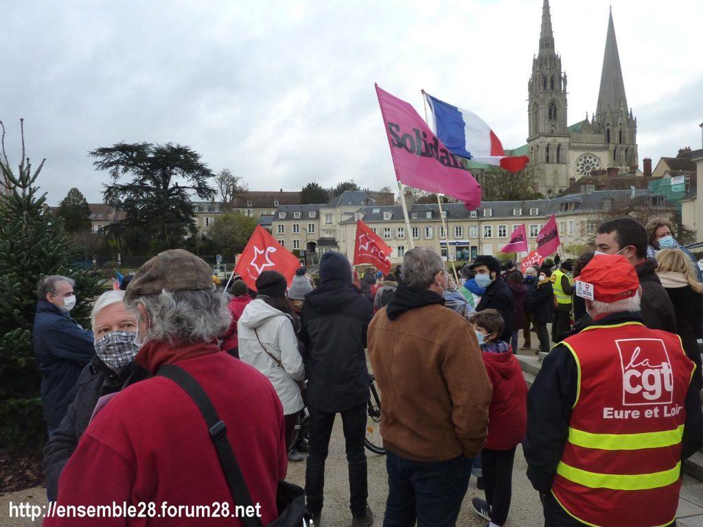 Chartres 12-12-2020 Manifestation Sécurité globale 03