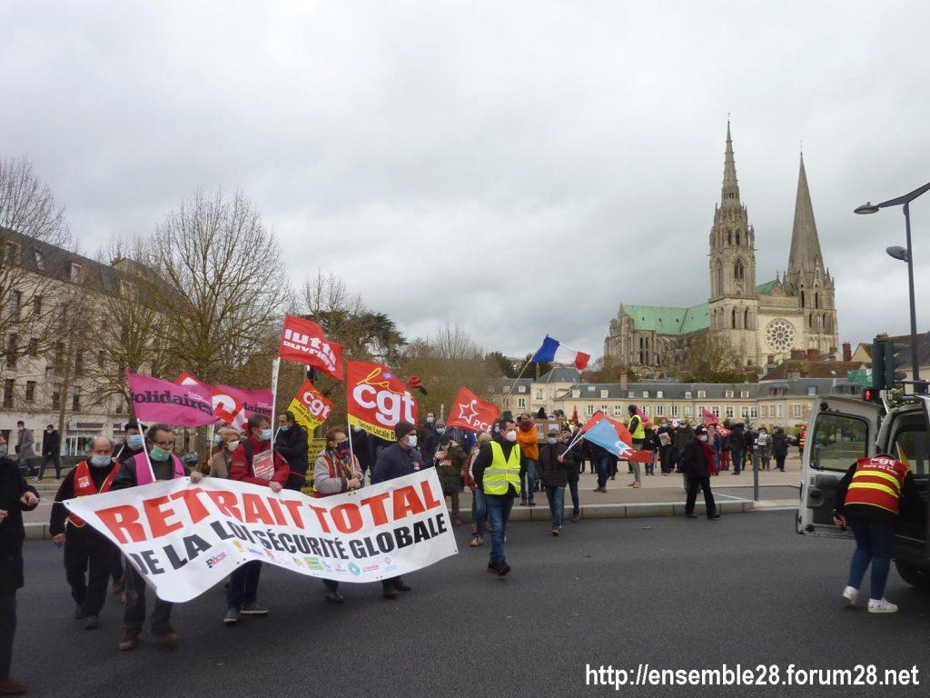 Chartres 12-12-2020 Manifestation Sécurité globale 07