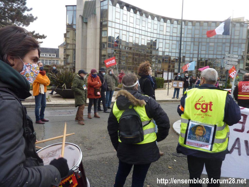 Chartres 12-12-2020 Manifestation Sécurité globale 12
