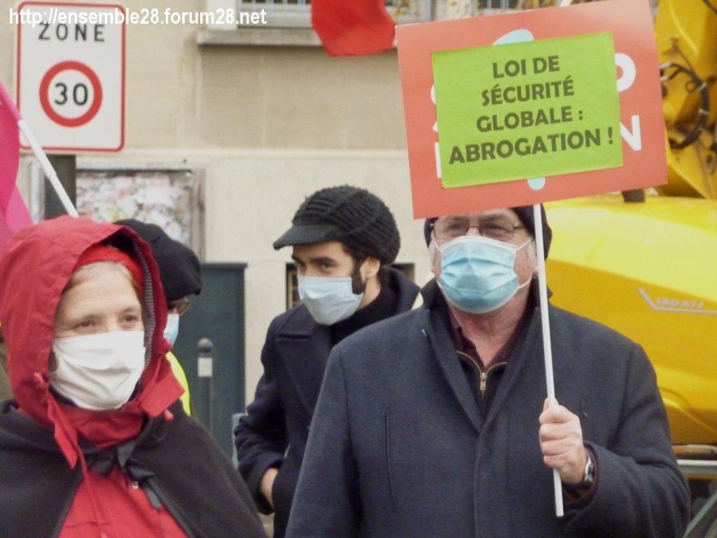 Chartres 12-12-2020 Manifestation Sécurité globale 13