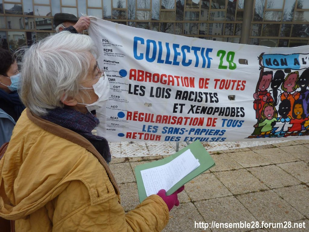 Chartres 18-12-2020 Rassemblement AERéSP Journée internationale des Migrants 02