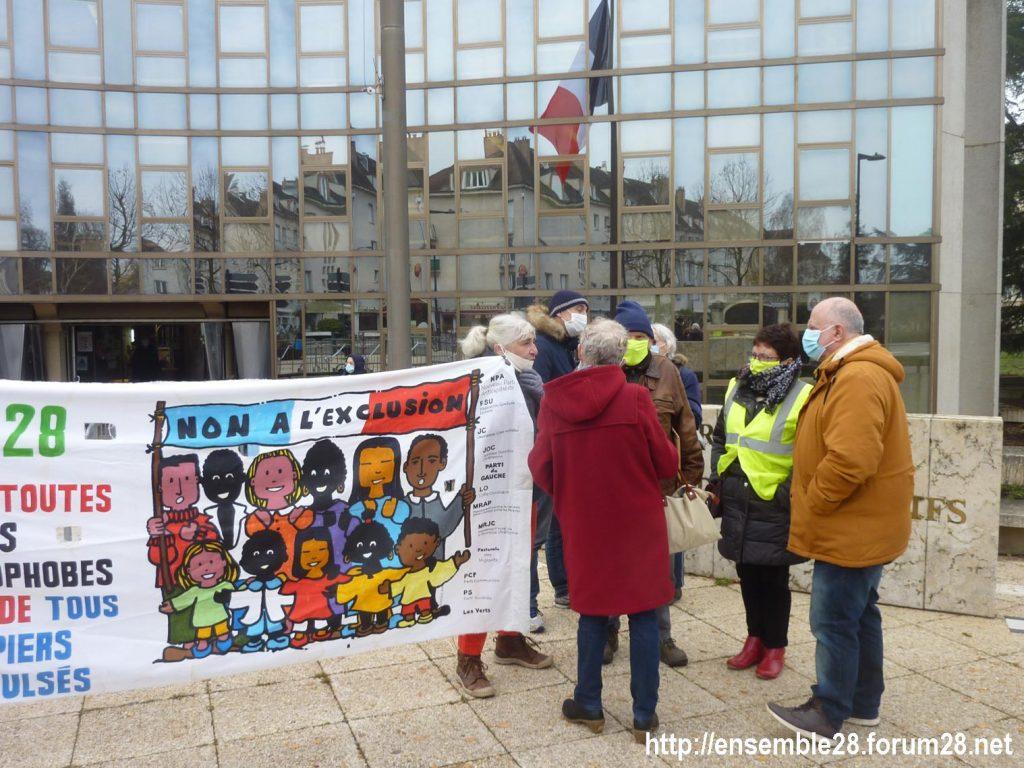 Chartres 18-12-2020 Rassemblement AERéSP Journée internationale des Migrants 03