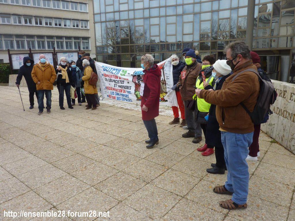 Chartres 18-12-2020 Rassemblement AERéSP Journée internationale des Migrants 04