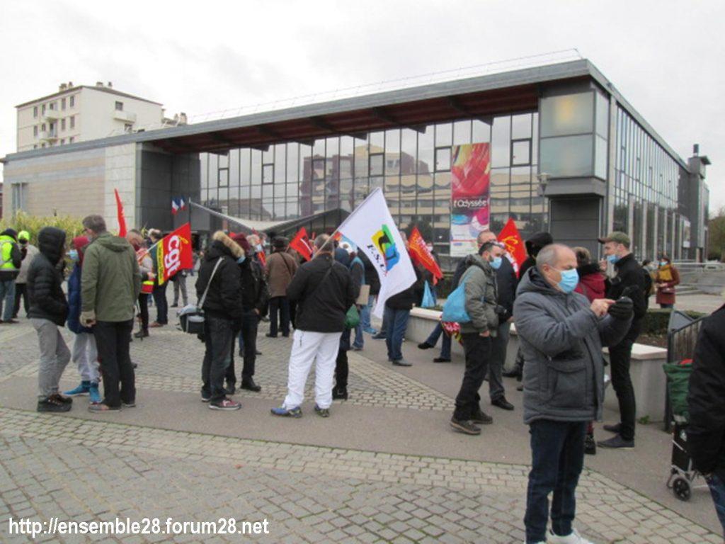 Dreux 05-12-2020 Manifestation Loi Sécurité-globale 01