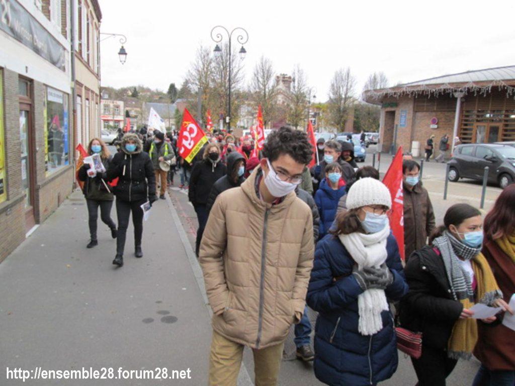 Dreux 05-12-2020 Manifestation Loi Sécurité-globale 02