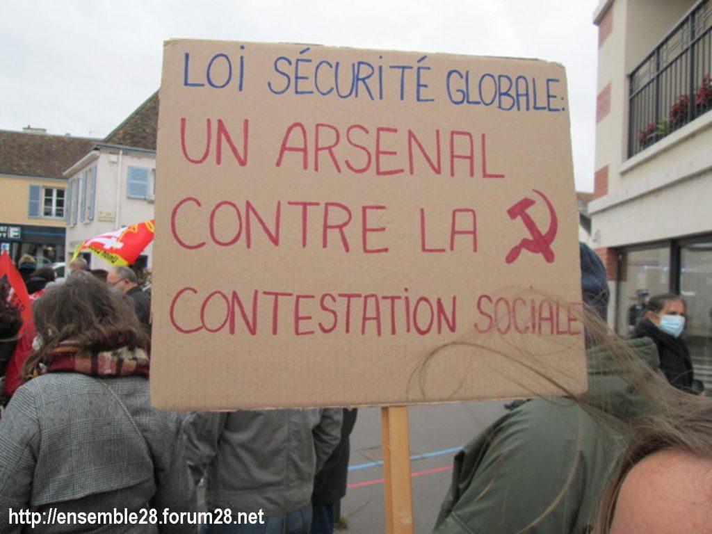 Dreux 05-12-2020 Manifestation Loi Sécurité-globale 03