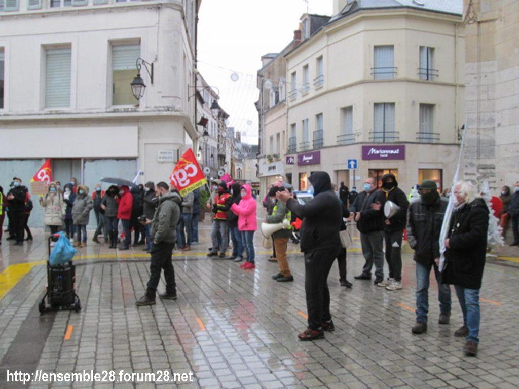 Dreux 05-12-2020 Manifestation Loi Sécurité-globale 07
