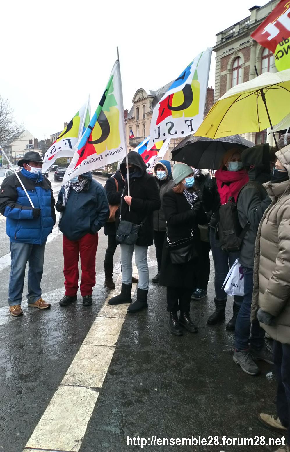 Chartres 16-01-2021 Rassemblement Loi Sécurité 1