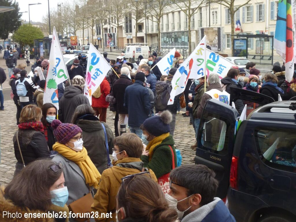 Chartres 25-01-2021 Manifestation Éducation Formation du cortège