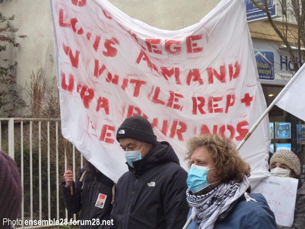 Chartres 25-01-2021 Manifestation Éducation