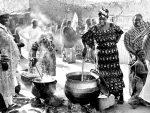 Coin cuisine, un mariage vers Torodi,Niger [Photo Christophe Pénicaud]