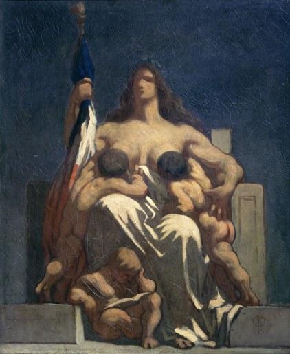 Honoré Daumier, La République, 1848