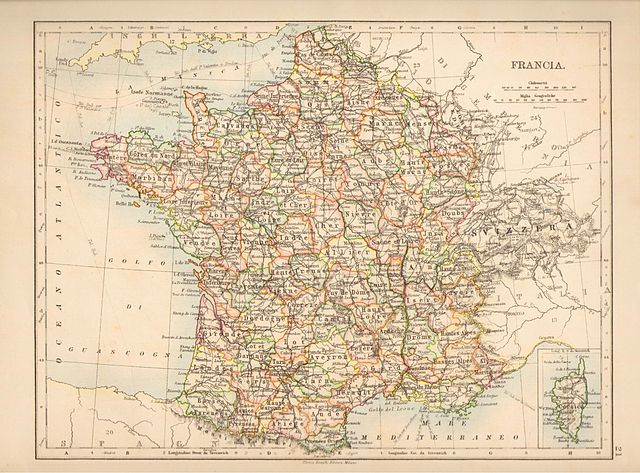 Carte de la France en 1899 (départements)
