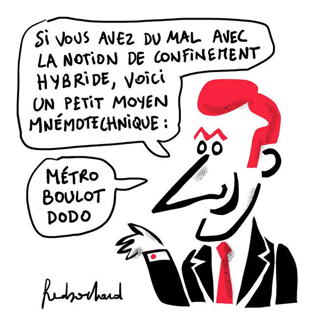 L'hybride bride par Fred Sochard, caricature de Macron