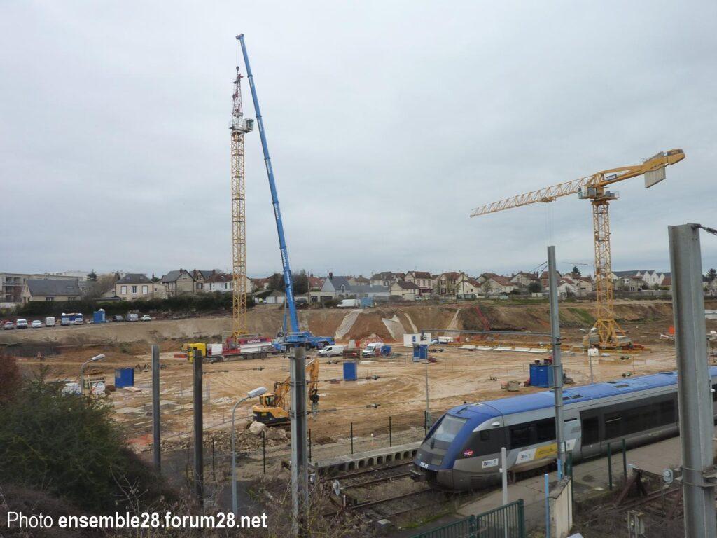 Chartres 26-01-2021 Chantier Pole Gare Complexe