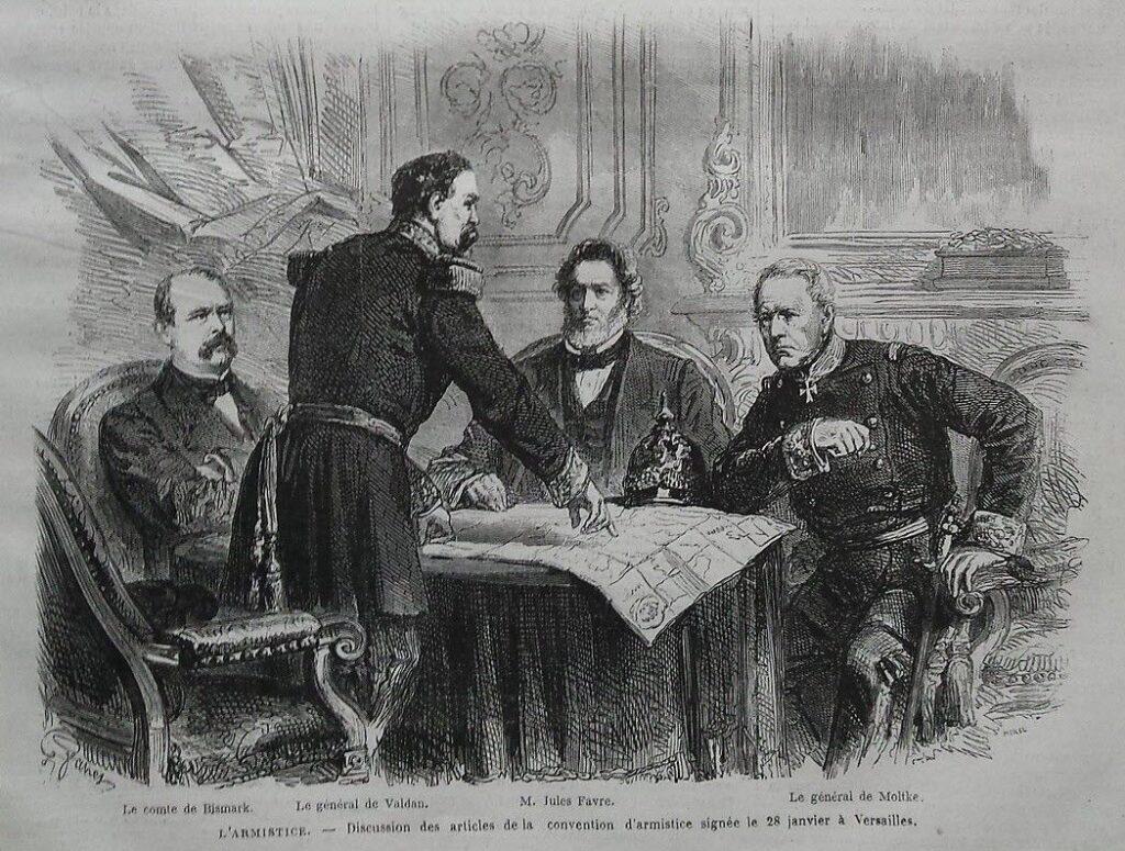Bismarck et Favre établissent l'armistice