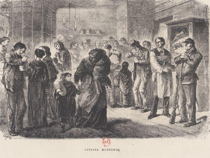 Cantine municipale pendant le siège de Paris [BnF, Gallica]