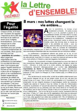 La Lettre d'Ensemble 2021-03-03 Recto