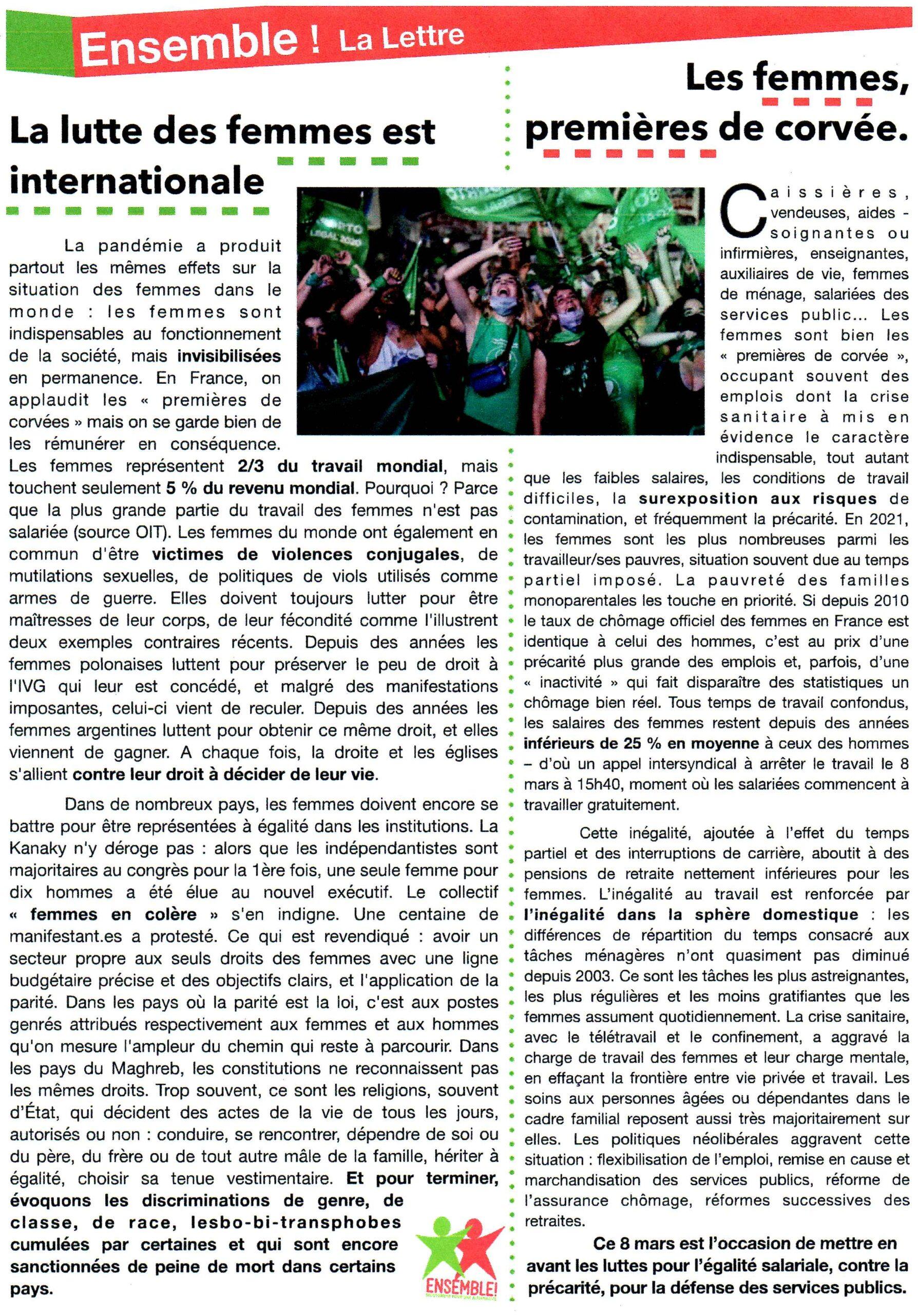 La Lettre d'Ensemble 2021-03-03 Verso