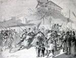 Les Gardes nationaux du Comité central remontant à leur parc les canons de Montmartre, le 18 mars 1870