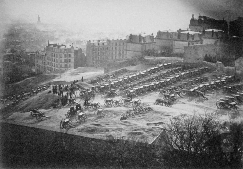 Les canons de Montmartre à la veille du 18 mars 1870