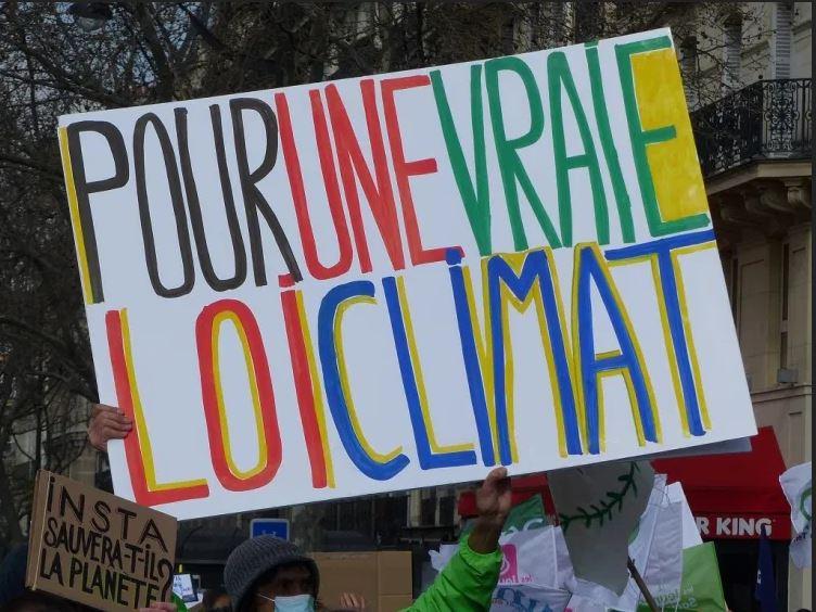 Pancarte Pour une vraie loi Climat