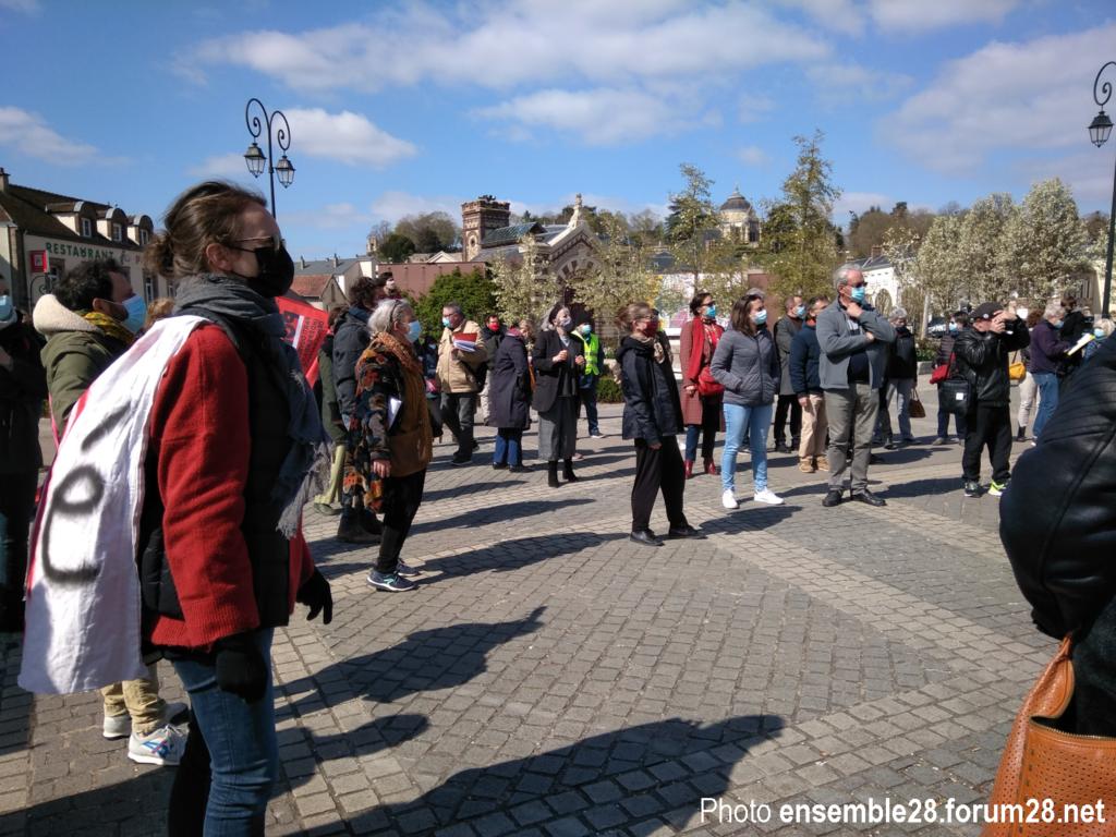 Dreux 03-04-2021 Action artistique et citoyenne Intermittents