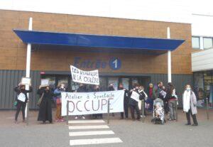 Dreux 09-04-2021 Vendredi de la colère Action artistique et citoyenne