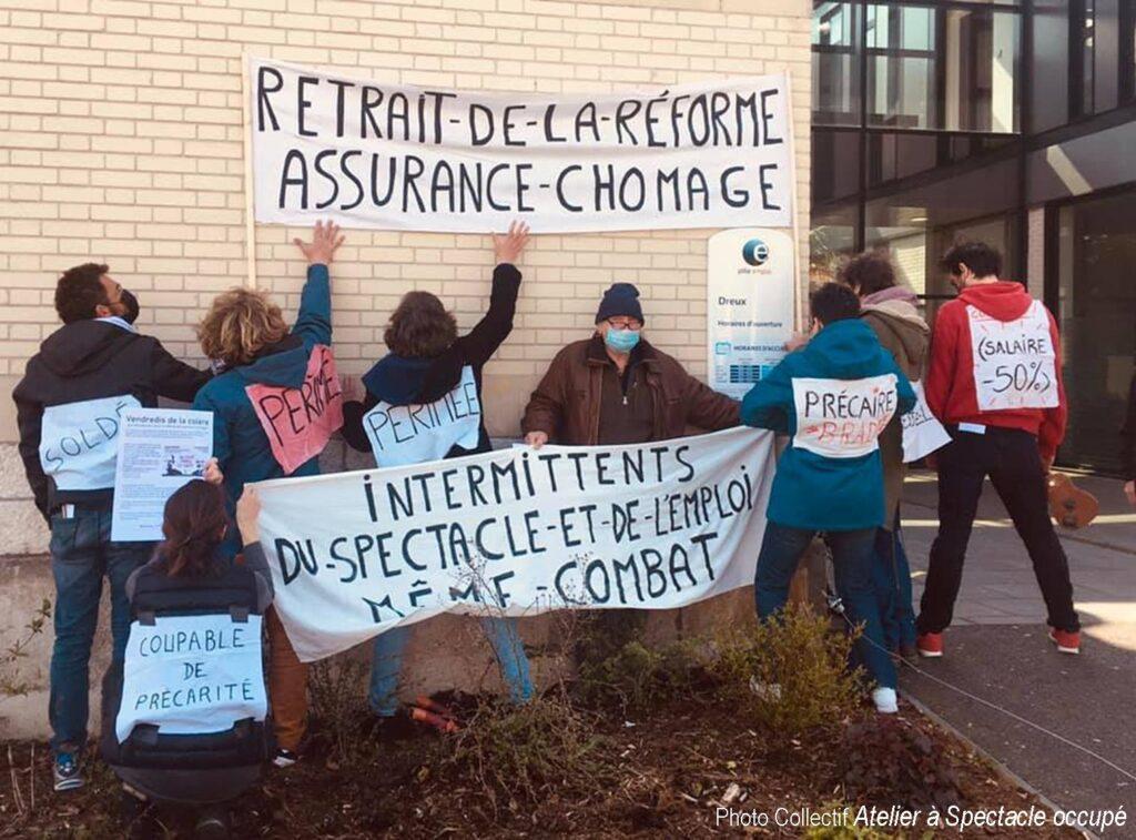 Dreux 16-04-2021 Occupation Pôle-Emploi Loi Assurance-chômage