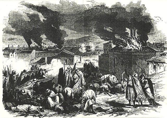 Algérie, 1871, l'attaque de BorjBouArirrij par les hommes d'El Mokrani