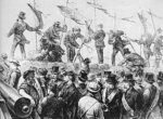 Les Francs-maçons se rallient à la Commune et plantent leurs bannières sur la barricade