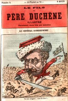 Père Duchêne Caricature Général Dombrowski