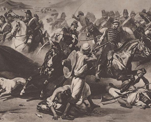 Prise de la smala d'Abd-el-Kader ou combat de Taguin en Algérie le 16 mai 1843, par Horace Vernet