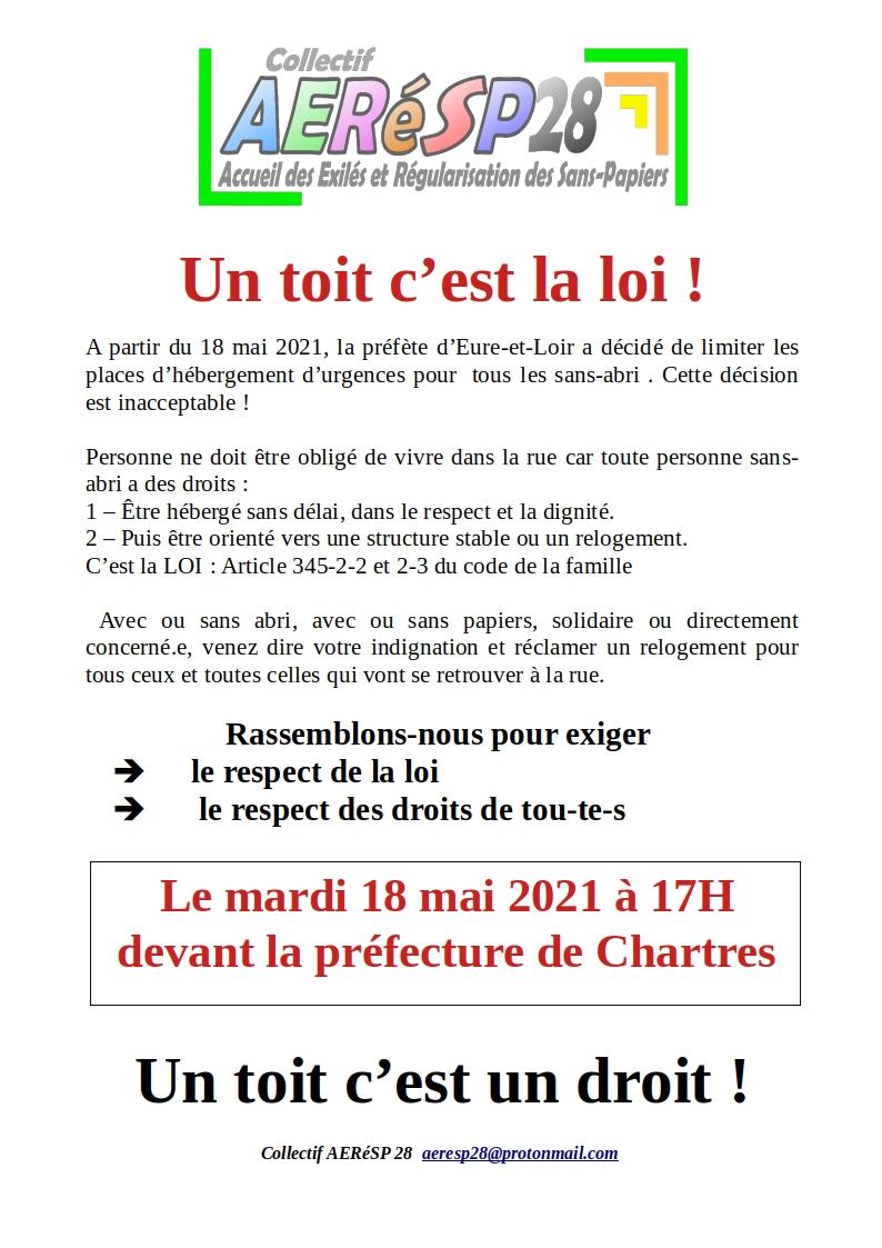 AERéSP Un toit c'est la loi pour 18-05-2021 [Affichette]