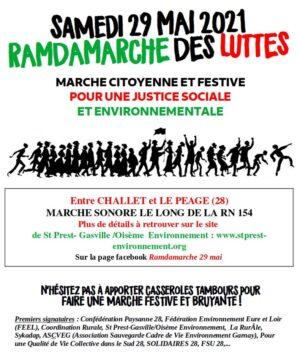 Ramdamarche des luttes : entre Challet et Le Péage / 29 mai / Pour une justice sociale et environnementale @ CHALLET --> LE PÉAGE