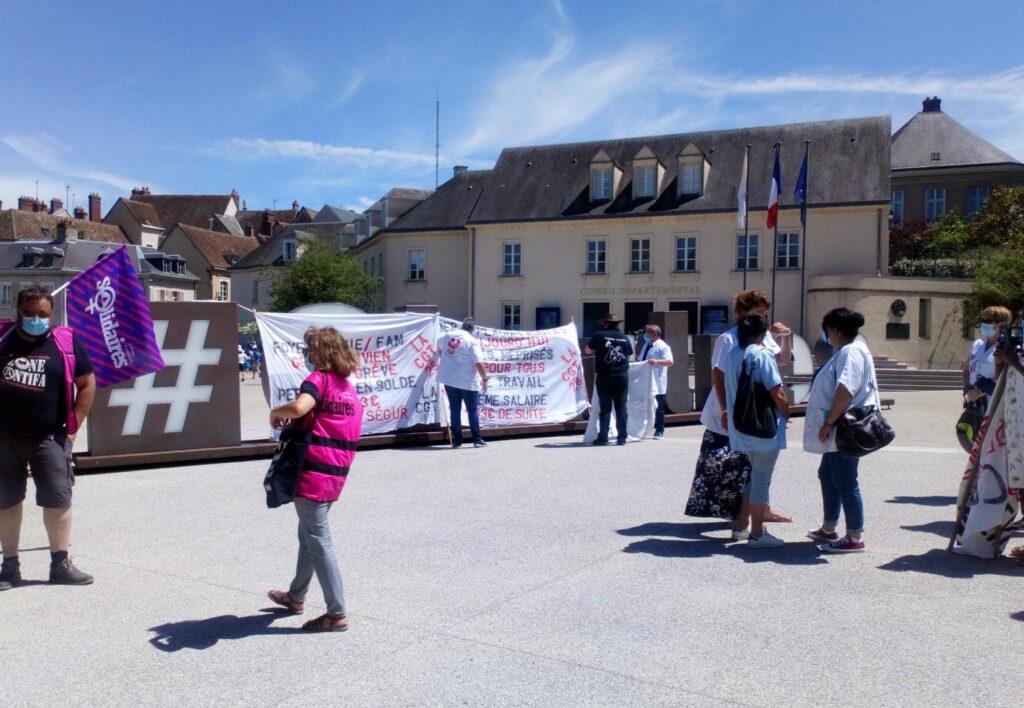 Chartres 15-06-2021 Manifstation Fonction publique CGT Solidaires