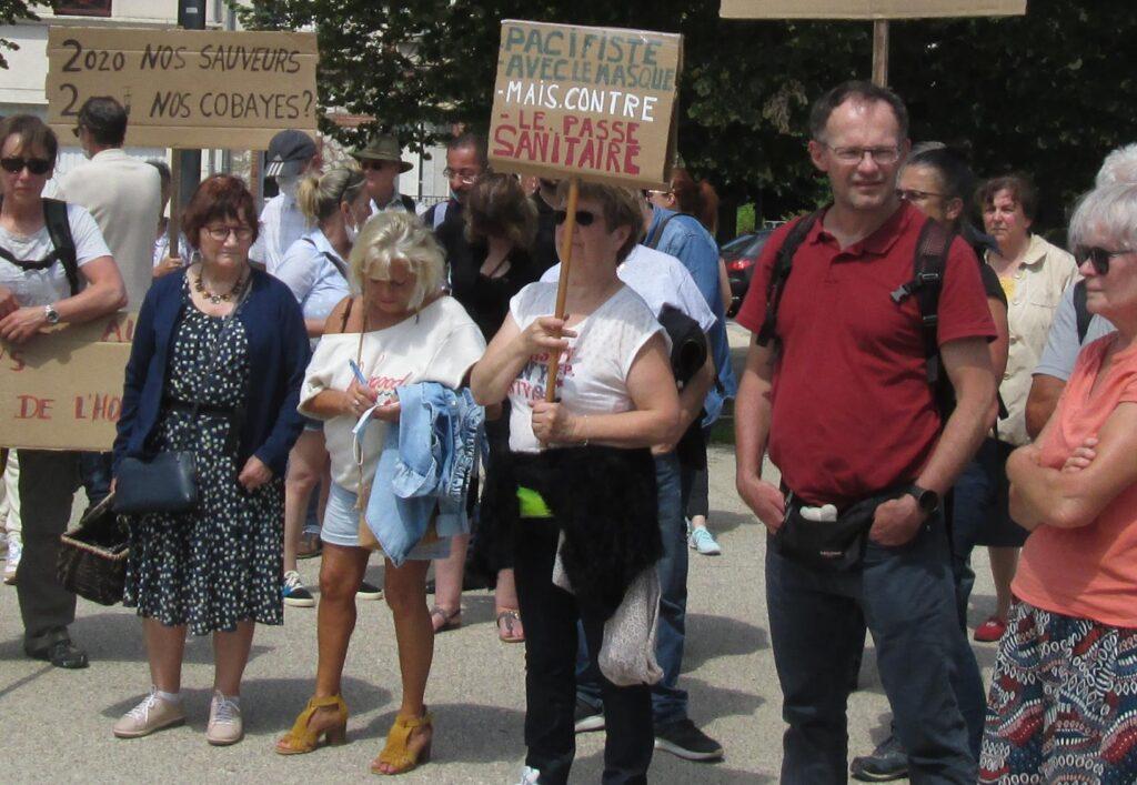 Chartres 17-07-2021 Manifestation CGT Santé28 Pass-sanitaire