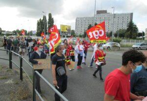 Dreux 31-07-2021 Manifestation pass-sanitaire Dreux CGT FO Gilets-Jaunes