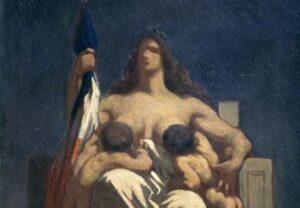 Honoré Daumier, La République, 1848 [détail]