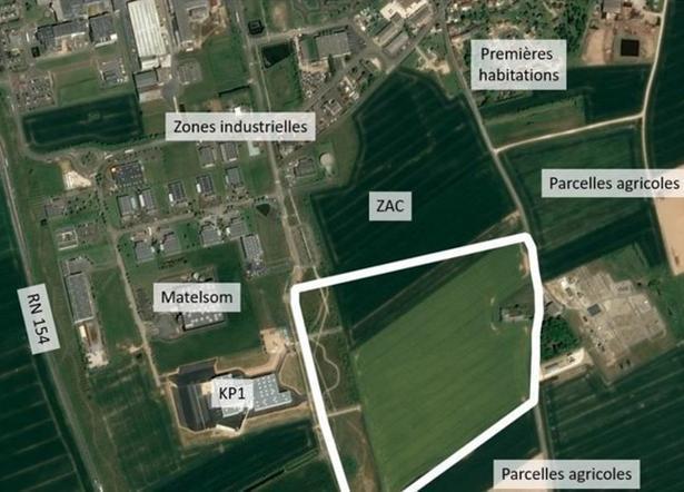 Site Dreux Seveso ZAC Porte-Sud Vernouillet [photo aérienne recadrée]